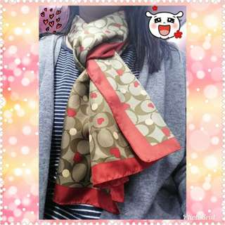 Coach scarf 絲巾