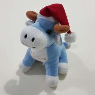 Legit Used Conrad Manila Christmas Carabao Stuffed Toy