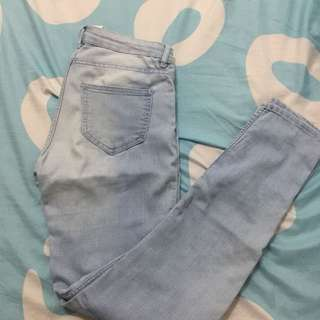 H&M high waisted light wash jeans