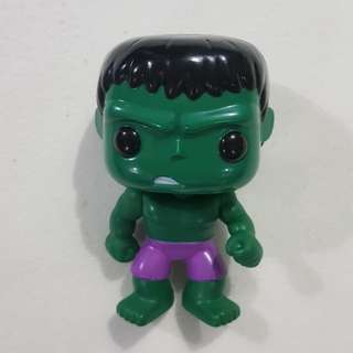 Replica Bootleg Used Funko Pop Hulk Marvel Toy Figure
