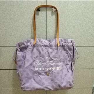 Salad 紫色波點帆布袋