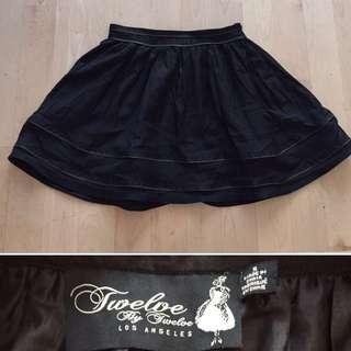Designer Skirt - Zipper Detail Sz S