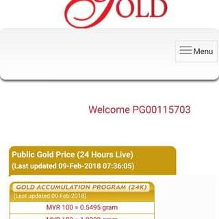 Emas 999.9 Harga untuk 1 gram 8/2/2018