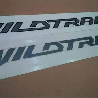 Wildtrak sticker decals ORIGINAL