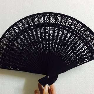 Engraved Sandalwood Fan