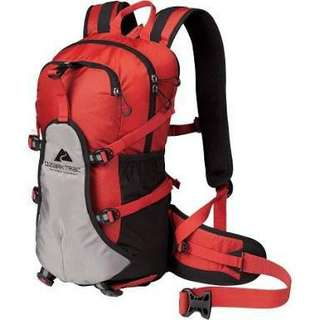 Ozark Trail 19 L Kalispell Outdoor Hiking Backpack- Red