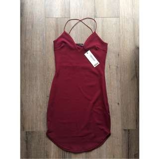 BNWT Red bodycon dress