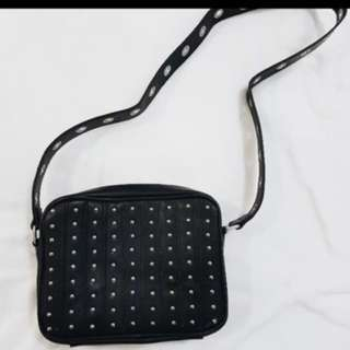 Black Studded Sling Bag