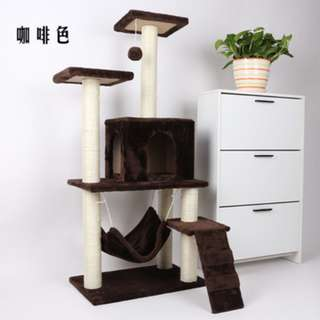 (Free delivery) Beautiful Cat Condo (Coffee Brown)