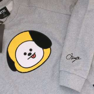 [READYSTOCK] BT21 CHIMMY Face Graphic Sweatshirt