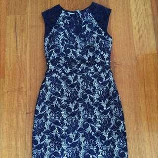 Warehouse Lace Bodycon Dress Size 10