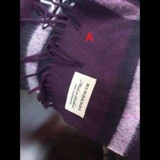 英國進口Burberry薄頸巾(4色)