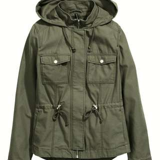 H&M army green parka winter coat