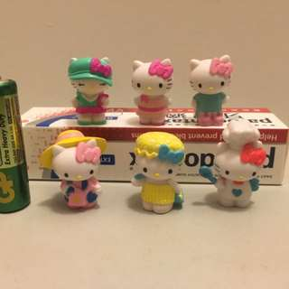 $30/6。絕版 sanrio hello kitty 擺設