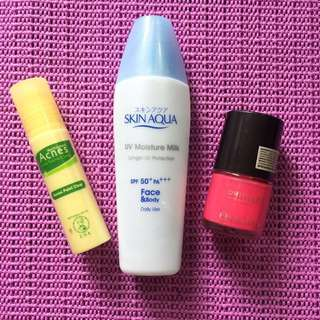 take all 50rb : Skin Aqua, Acnes & Oriflame