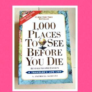 "Brand new book ""1000 places to see..."""