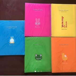 All 5 Cute Design Clear Book
