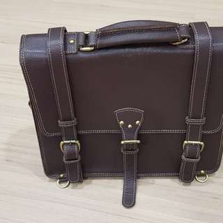 Real Leather Working Bag for Mens