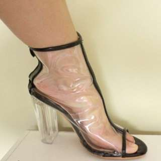 Clear Heeled Boots