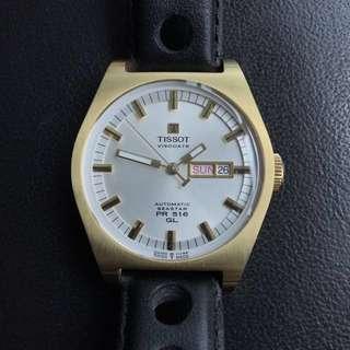 Tissot Seastar PR 516 PR516 heritage gold silver dial watch vintage