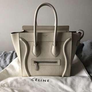 Celine Micro Luggage White