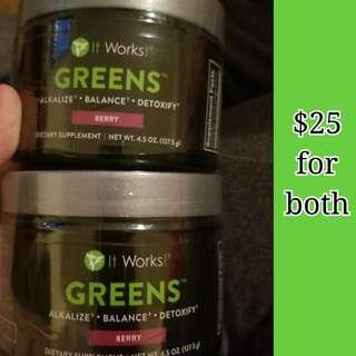 It works greens