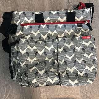 Skip Hop Duo Signature Diaper Bag - Hearts