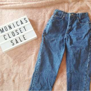 Vintage Mom Jeans Denim Pants