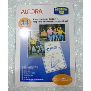 Aurora A4 laminator pouch (free delivery)