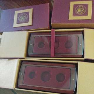 錢幣收藏*展示木盒