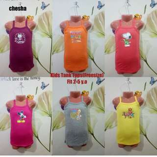 Cotton Tank Tops For Kids(2-4y.o)