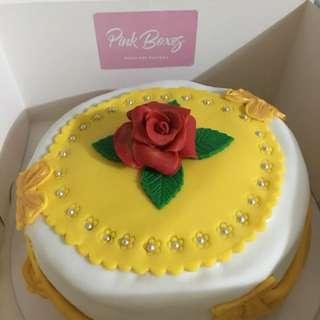 Pink Boxes - customized fondant cake
