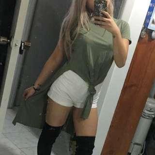 Bardot Khaki Long Tshirt
