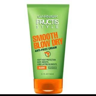 NEW- Garnier® Fructis® Style Smooth Blow Dry Sleek Anti Frizz Cream - 5.1 fl oz
