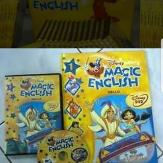 Disney's magic english books with CD, kids books