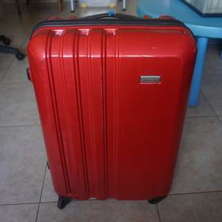 "Pierre Cardin 25"" hard case luggage"