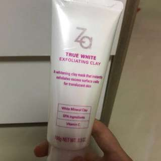 Za true white exfoliating clay