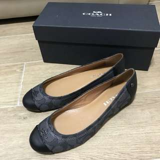 Real & New Coach Monogram Shoes Flats