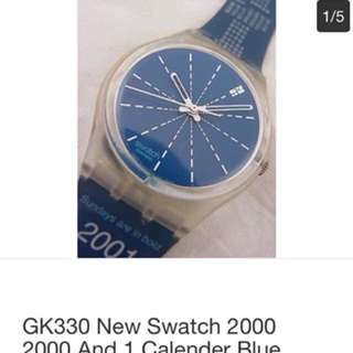 GK330 New Swatch - 2000 And 1 Calender On Strap Millennium Swiss Made Authentic