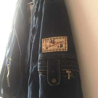 復古厚磅V領牛仔外套 古著vintage (含運)