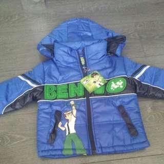 Brand New! Boys Ben 10 Winter Jacket