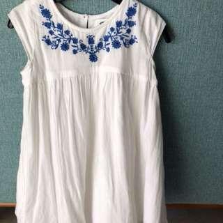 Bohemian white cotton dress 4T