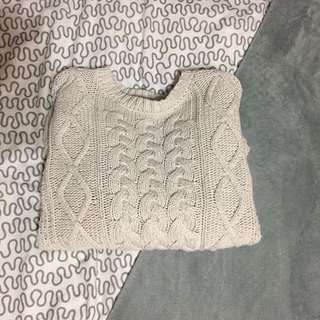 Forever 21 Thick Cable Knit Sweater