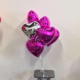 Heart Shape Foil Balloon Bundles