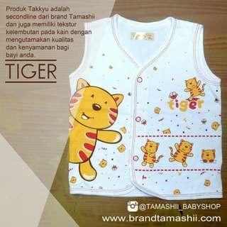 """1 ls baju bayi lengan buntung seri """"Tiger Print"""""""