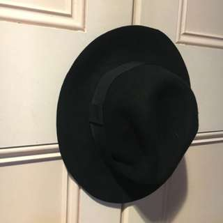Black Panama Style Hat