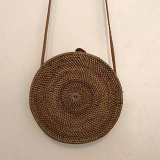 Rattan bag in medium