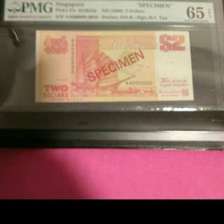 $2 000000 specimen pmg65 selling cheap