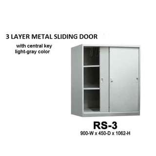 2 to 5 layer metal cabinet with key(sliding door)