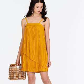 The Closet Lover TCL Jouie Pleated Dress in Marigold